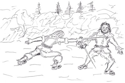 Et le duel reprit entre les deux hommes aussi acharnés l'un que l'autre.