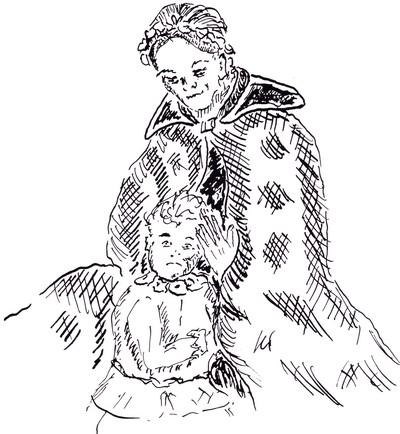 Marika se tourna vers l'enfant, qui paraissait plus rassuré mais s'accrochait toujours à ses jupes, et l'embrassa tendrement.