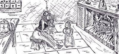 Cathy s'occupa en rhabillant à son idée la poupée de Marie-Thérèse
