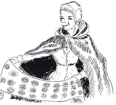 Et elle montra un joli foulard de soie.
