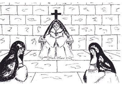 L'abbesse cessa de parler pour reprendre un peu haleine