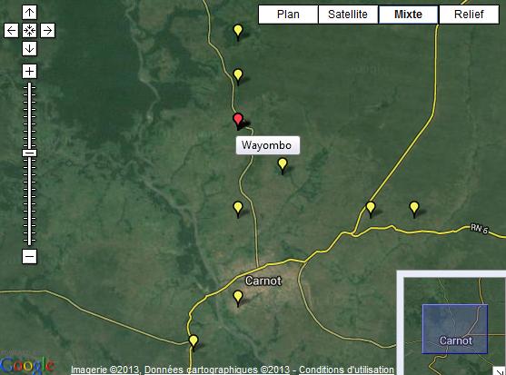 Emplacement de Wayombo